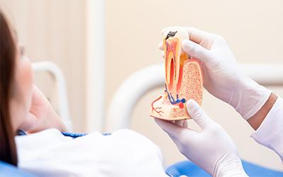 Полное разрушение коронки - Стоматология Линия Улыбки